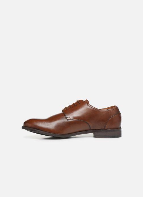 Lace-up shoes Clarks FLOW PLAIN Brown front view