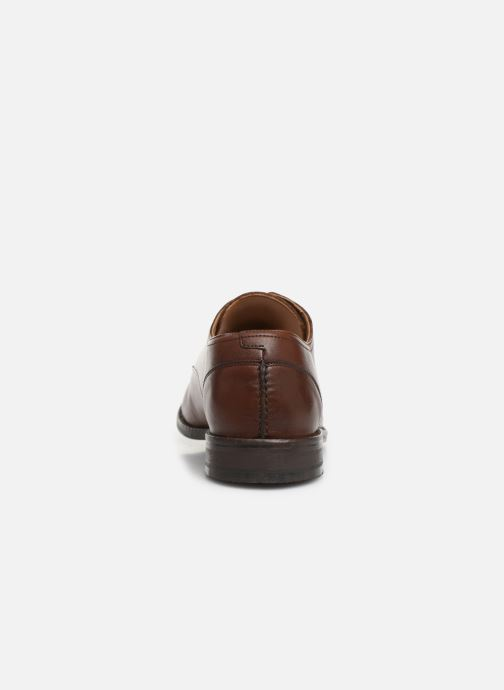 Lace-up shoes Clarks FLOW PLAIN Brown view from the right