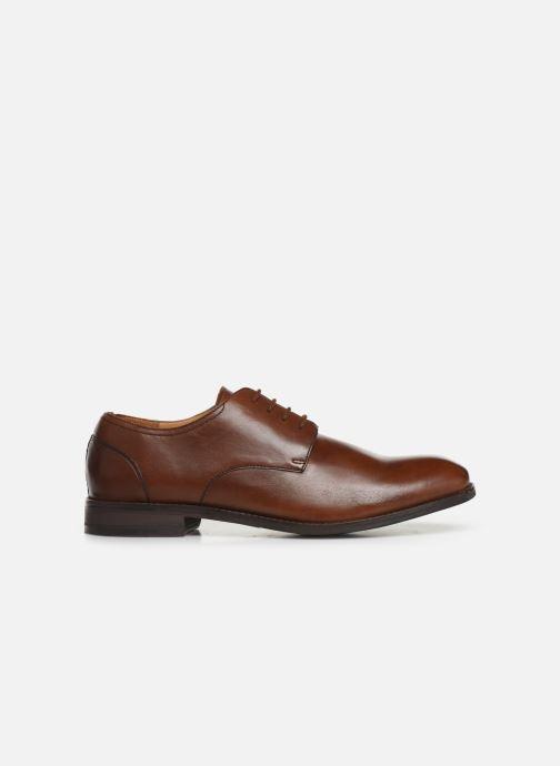 Lace-up shoes Clarks FLOW PLAIN Brown back view