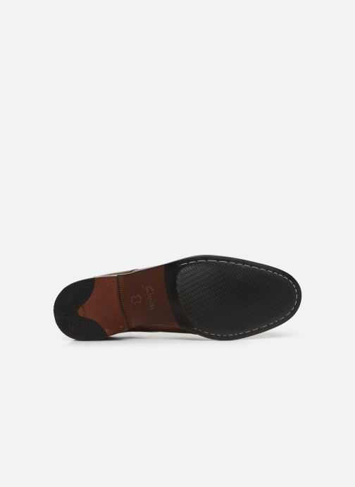 Lace-up shoes Clarks FLOW PLAIN Brown view from above