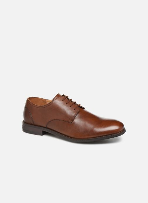 Lace-up shoes Clarks FLOW PLAIN Brown detailed view/ Pair view