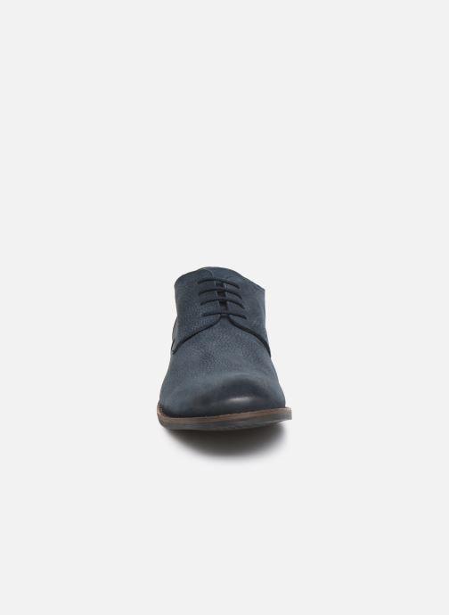 Schnürschuhe Clarks FLOW PLAIN blau schuhe getragen