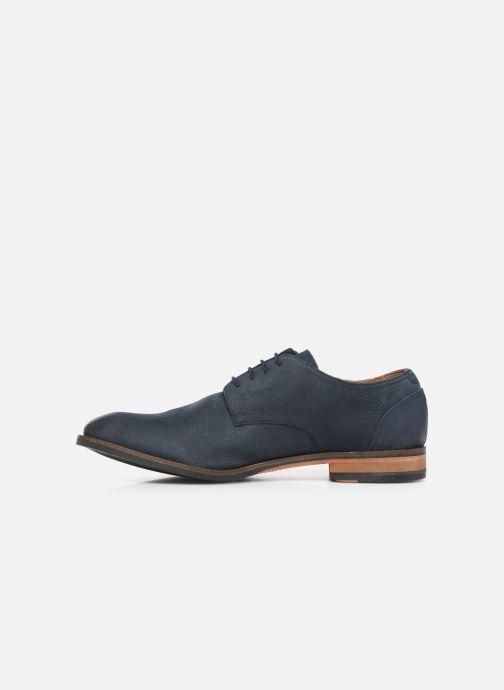 Lace-up shoes Clarks FLOW PLAIN Blue front view