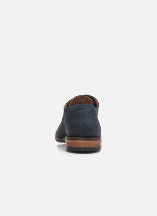 Chaussures à lacets Clarks FLOW PLAIN Bleu vue droite