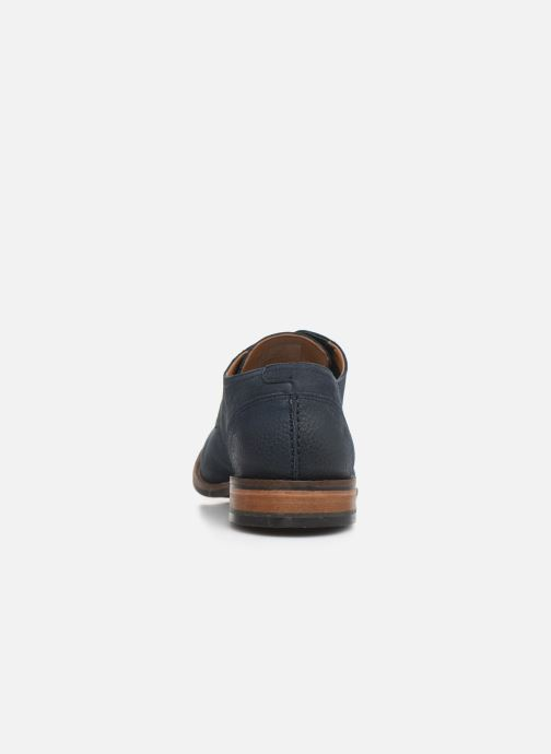 Lace-up shoes Clarks FLOW PLAIN Blue view from the right