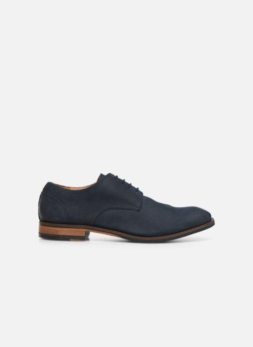 Chaussures à lacets Clarks FLOW PLAIN Bleu vue derrière