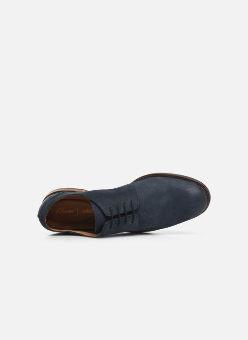 Lace-up shoes Clarks FLOW PLAIN Blue view from the left