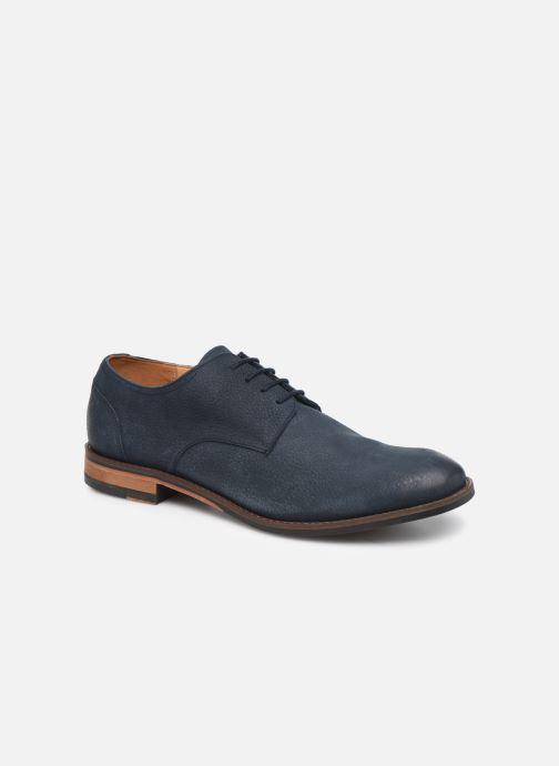 Snøresko Clarks FLOW PLAIN Blå detaljeret billede af skoene