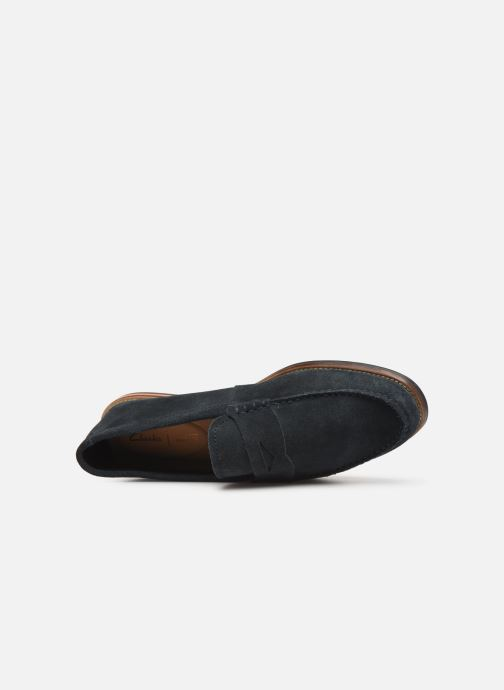 Loafers Clarks WHITLEY FREE Blue view from the left