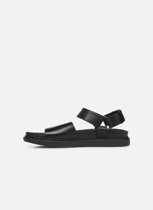 Sandales et nu-pieds Clarks TRACE BAY Noir vue face