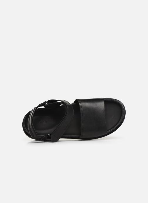 Sandales et nu-pieds Clarks TRACE BAY Noir vue gauche
