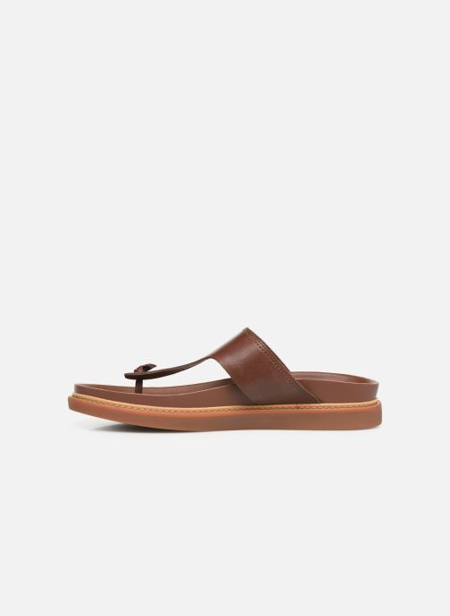 Flip flops Clarks TRACE SAND Brown front view