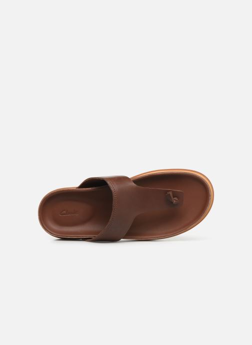 Flip flops Clarks TRACE SAND Brown view from the left