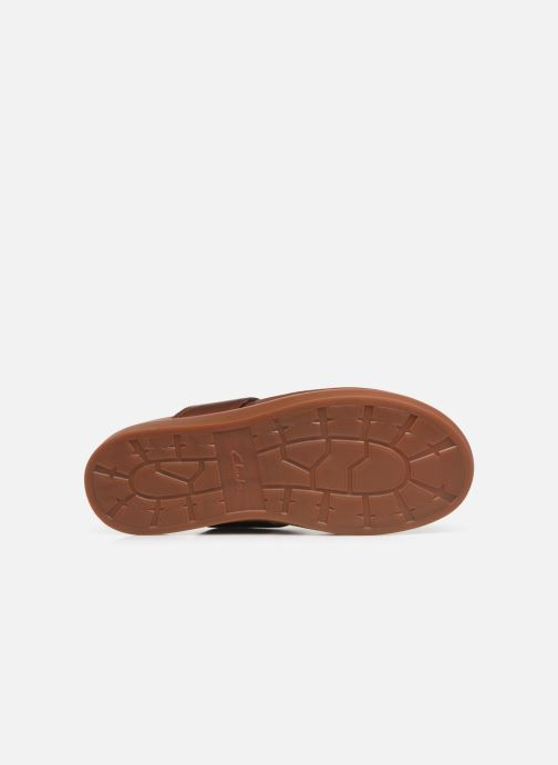 Flip flops Clarks TRACE SAND Brown view from above