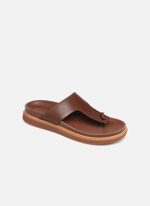 Flip flops Clarks TRACE SAND Brown detailed view/ Pair view