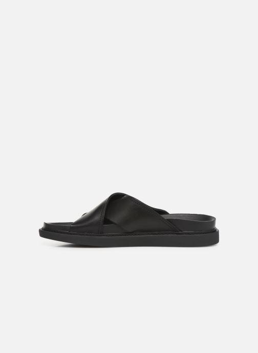 Sandales et nu-pieds Clarks TRACE CROSS Noir vue face