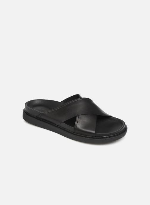 Sandales et nu-pieds Clarks TRACE CROSS Noir vue détail/paire