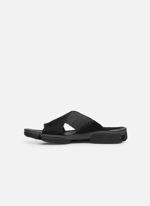 Sandals Clarks TRI COVE CROSS Black front view