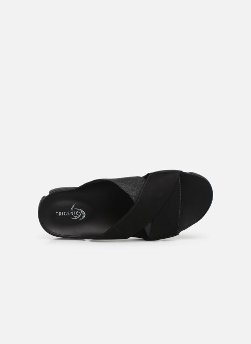 Sandals Clarks TRI COVE CROSS Black view from the left