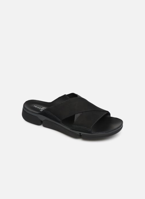 Sandals Clarks TRI COVE CROSS Black detailed view/ Pair view