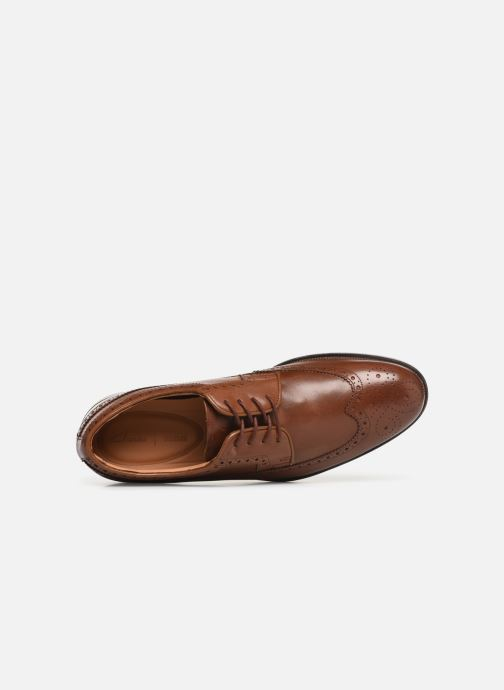 Lace-up shoes Clarks COLING LIMIT Brown view from the left