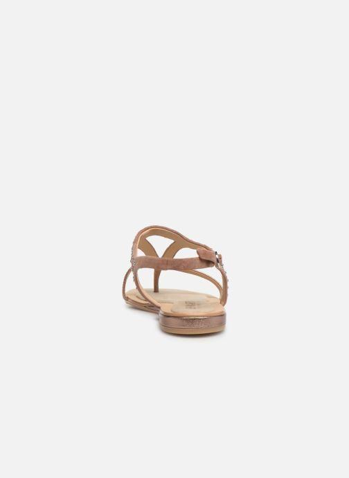 Sandales et nu-pieds JB MARTIN ALANIS Rose vue droite