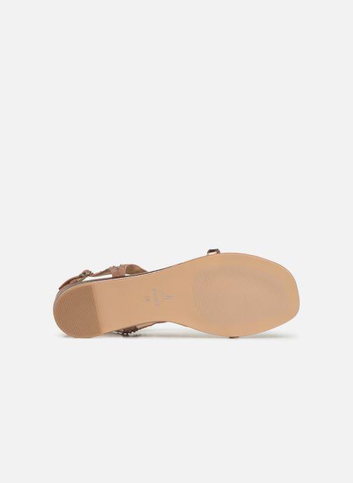 Sandales et nu-pieds JB MARTIN ALANIS Rose vue haut