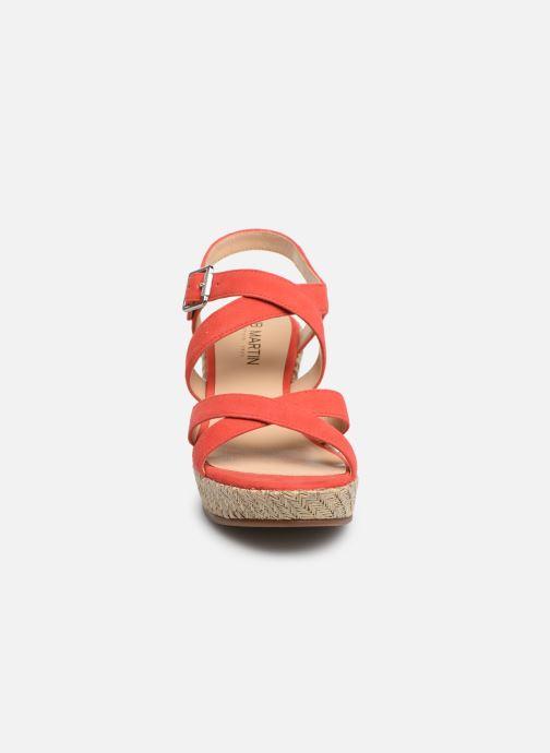 Espadrilles JB MARTIN DAREL Rose vue portées chaussures