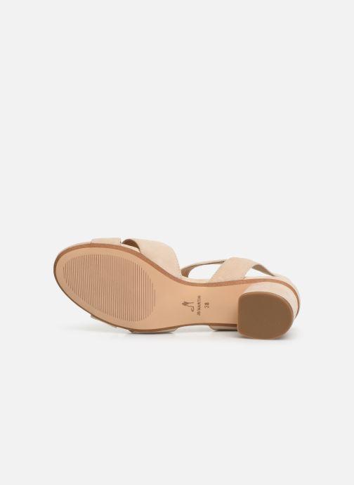 Sandales et nu-pieds JB MARTIN MABEL Beige vue haut