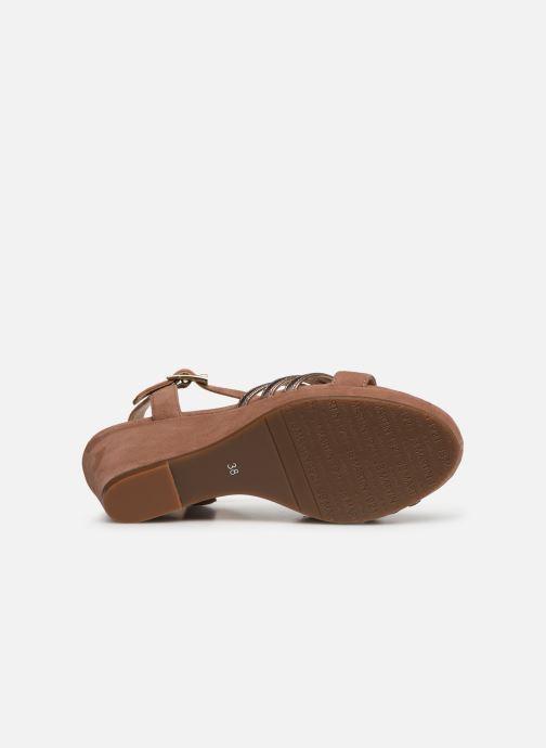Sandales et nu-pieds JB MARTIN QUOLIDAY Rose vue haut