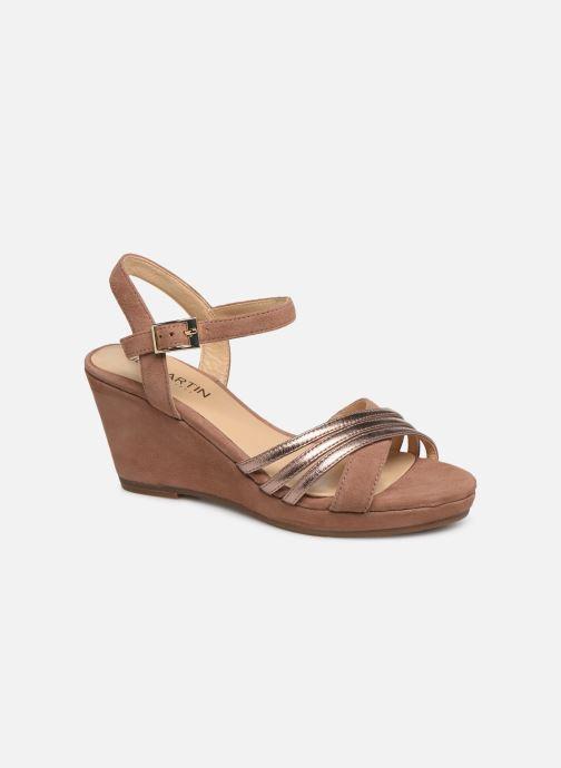 Sandales et nu-pieds JB MARTIN QUOLIDAY Rose vue détail/paire