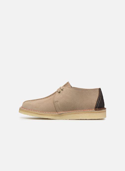 Lace-up shoes Clarks Originals DESERT TREK Beige front view