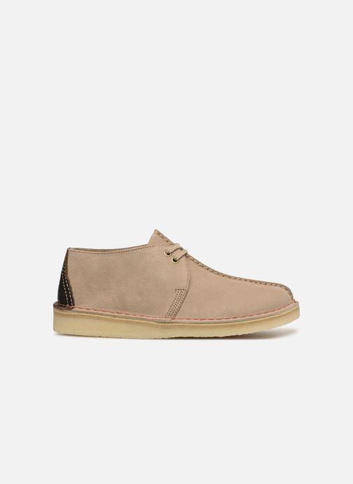 Lace-up shoes Clarks Originals DESERT TREK Beige back view