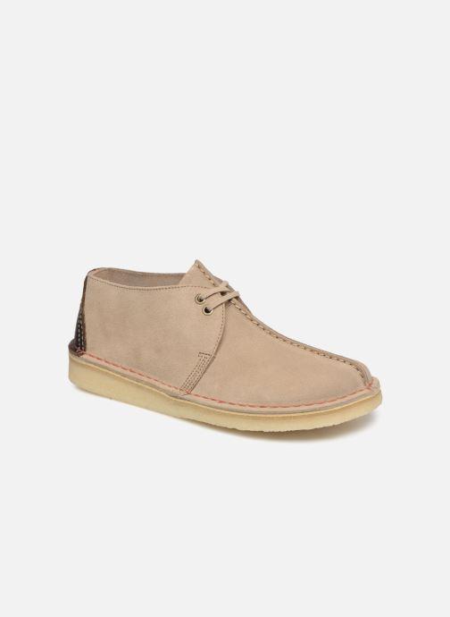 Zapatos con cordones Clarks Originals DESERT TREK Beige vista de detalle / par