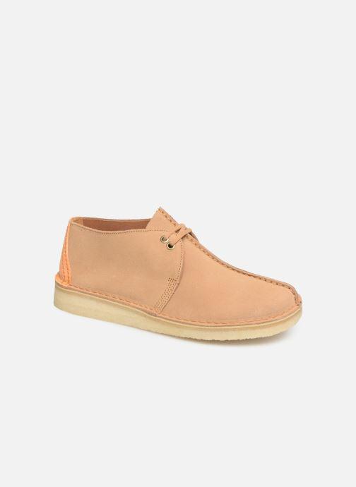 Zapatos con cordones Clarks Originals DESERT TREK Marrón vista de detalle / par