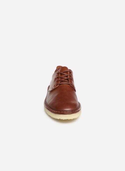 Zapatos con cordones Clarks Originals WALBRIDGE LACE Marrón vista del modelo