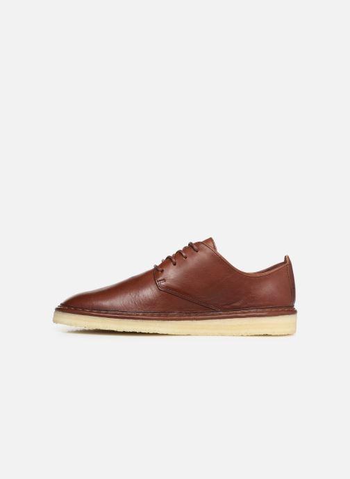 Zapatos con cordones Clarks Originals WALBRIDGE LACE Marrón vista de frente