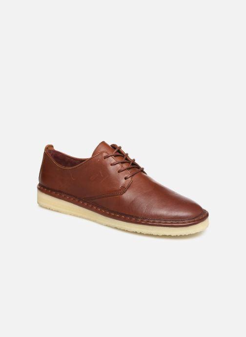Zapatos con cordones Clarks Originals WALBRIDGE LACE Marrón vista de detalle / par