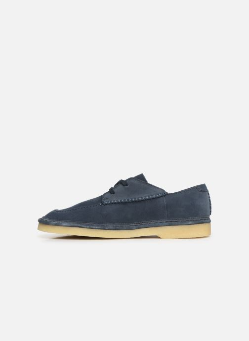 Lace-up shoes Clarks Originals WALBRIDGE EASY Blue front view
