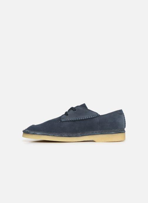 Lace-up shoes Clarks Originals WALBRIDGE EASY Blue front view