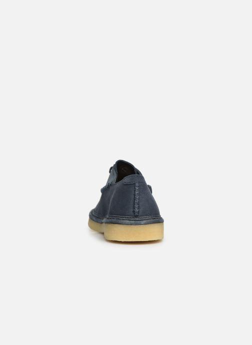Zapatos con cordones Clarks Originals WALBRIDGE EASY Azul vista lateral derecha