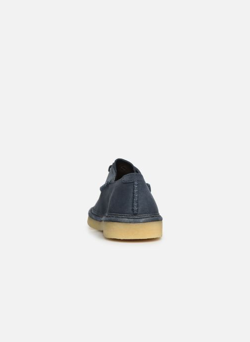 Lace-up shoes Clarks Originals WALBRIDGE EASY Blue view from the right