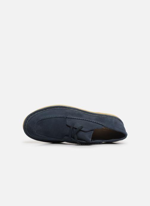 Zapatos con cordones Clarks Originals WALBRIDGE EASY Azul vista lateral izquierda