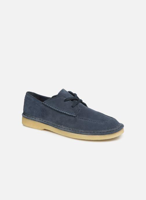 Zapatos con cordones Clarks Originals WALBRIDGE EASY Azul vista de detalle / par