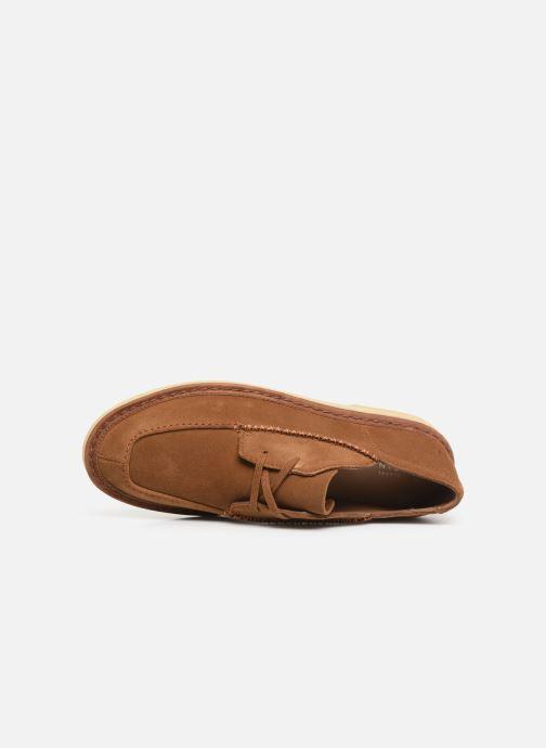 Zapatos con cordones Clarks Originals WALBRIDGE EASY Marrón vista lateral izquierda
