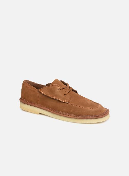 Zapatos con cordones Clarks Originals WALBRIDGE EASY Marrón vista de detalle / par