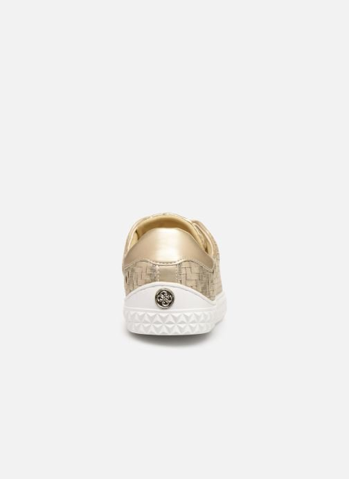 Baskets Guess PARLAYNA Or et bronze vue droite