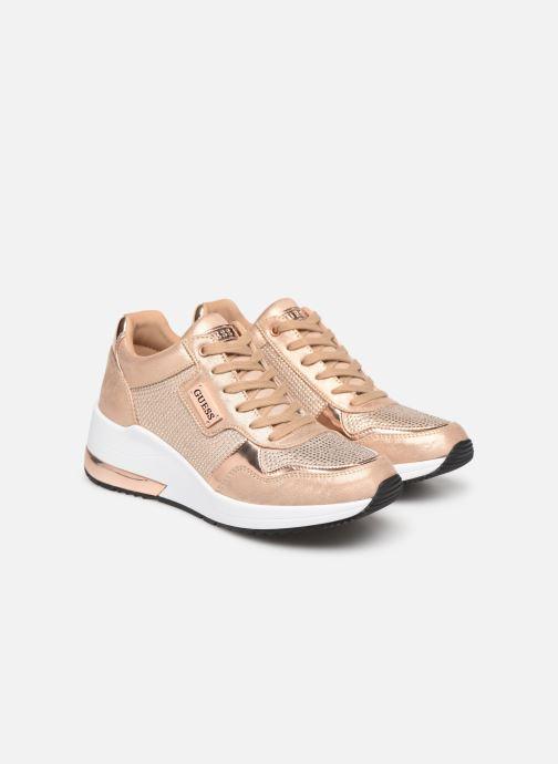 Sneakers Guess JANEET Guld og bronze 3/4 billede