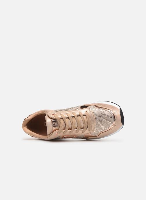 Sneakers Guess JANEET Guld og bronze se fra venstre