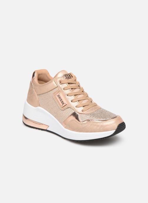Sneakers Guess JANEET Guld og bronze detaljeret billede af skoene